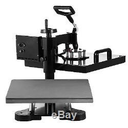 5IN1 15x15 T-Shirt Heat Press Machine Digital Transfer Hat Cap Swing Away