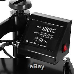 5IN1 T-Shirt Heat Press Transfer Kit Multifunctional Digital Swing Away 15x15