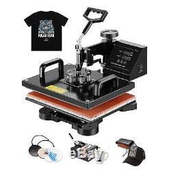 5in1 12 x 15 Heat Press Machine Digital Sublimation T-shirt Mug Plate Hat
