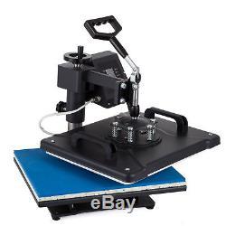 5in1 Digital 15X12 Transfer Heat Press Machine Sublimation T-Shirt DIY 110V