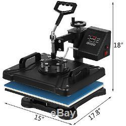 5in1 Heat Press 15x12 14 Vinyl Cutter Plotter Business Printer Sublimation