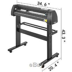 5in1 Heat Press 15x15 Vinyl Cutter Plotter 28 Printer Sticker Print WithTable