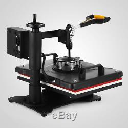5in1 Heat Press Machine Digital Transfer Sublimation T-Shirt Mug Hat Plate Cap