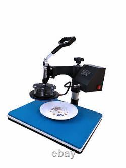5in1 Heat Press Machine Swing Away+110Pcs Sublimation Paper T-Shirt /Mug/Plate