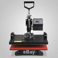 5in1 Heat Press Transfer Kit 34 Vinyl Cutting Plotter CLamshell Cutter T-Shirt
