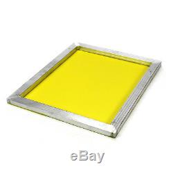6 Aluminum Silk Screen Printing Press Screens 355 TPI Yellow Mesh 20x24