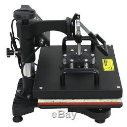 6 In 1 Digital Heat Press Machine Sublimation For T-Shirt/Mug/Plate Hat Printer