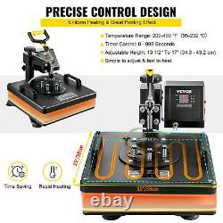 6 In 1 Heat Press 15x15 Sublimation Machine + 28 Vinyl Cutter/Plotter Cutting