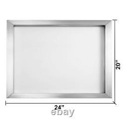6 Pack 20x24 Aluminum Frame Silk Screen Printing Screens with 160 Mesh