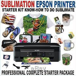 6 in 1 HEAT PRESS TRANSFER T-SHIRT HAT MUG 15X15+ EPSON PRINTER SUBLIMATION