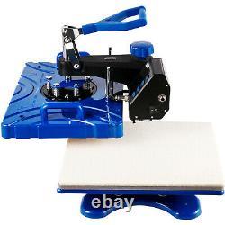 6 in 1 Heat Press 12X15 Swing Away T-Shirts Mug Shoes Printer Transfer 800W