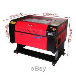 60W CO2 Laser Engraving Cutting Machine Engraver Cutter USB Port DSP Control