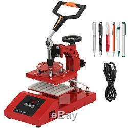 6Pcs Digital LoGo Pen Heat Press Machine Transfer 6 Pens 15x20cm Sublimation