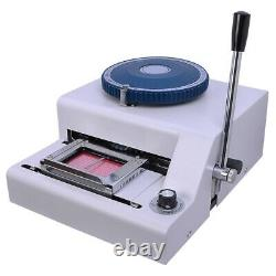 70-Character PVC Card Embosser Laser Engraved Dial Stamping Credit ID