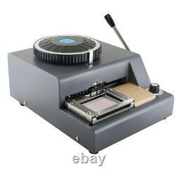 72 Character Letter Manual Embosser Stamping Machine PVC Credit Card DIY Maker