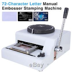 72 Character Letter Manual Embosser Stamping Machine PVC Credit Card Embossing