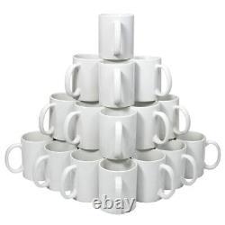 72 weiße unbedruckte Tassen Transferdruck Tassenpresse Presse Werbetasse