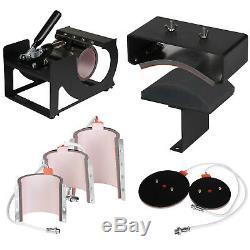 8 In 1 Digital Heat Press Machine Sublimation For T-Shirt/Mug/Plate Hat Printer