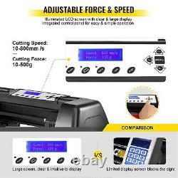 8 In 1 Heat Press 15x15 Sublimation Machine +34 Vinyl Cutter/Plotter Cutting
