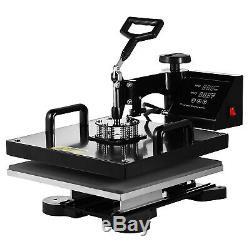 8 in 1 15x15 Heat Press Machine Digital Transfer Sublimation T-Shirt Mug Hat