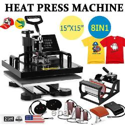 8 in 1 Combo Heat Press Digital Swing Away Transfer T-shirt Sublimation Machine