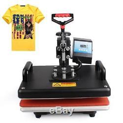 8 in 1 DIY Digital Heat Press Machine T-Shirt Mug Hat Plate Sublimation Printer