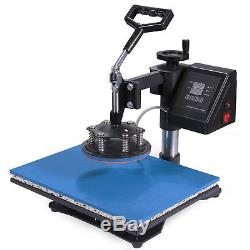 8 in 1 Dual Digital Transfer Sublimation Heat Press Machine T-Shirt Mug 15X12