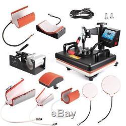 8 in 1 Heat Press Machine Digital Transfer Sublimation T-Shirt Plate Mug Hat Cap