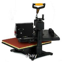 8 in 1 Heat Press Machine Swing Away T-Shirt Mug Hat 12x15 Digital Transfer