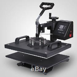 8 in 1 Transfer Sublimation T-Shirt Mug Hat Plate Cap Heat Press Machine New