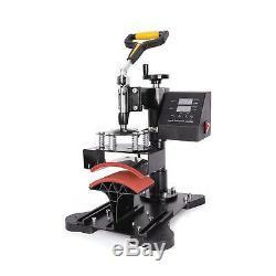 8 in1 Heat Press Machine 360°Swing Away T-Shirt Hat Mug Printing Press 15x15