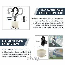 80W Pure Air Fume Extractor Smoke Purifier 3 Filter f. CO2 Laser Engraver Cutter