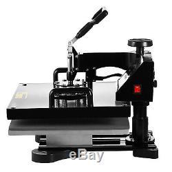 8IN1 15x15 Combo T-Shirt Heat Press Transfer Machine Mug Plate Hat Swing Away