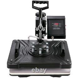 8IN1 Digital Heat Press Machine Sublimation For T-Shirt/Mug/Plate Cap Printer