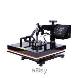8in1 15x15 Sublimation T-Shirt Heat Press Transfer Mug Plate Printer Machine DIY