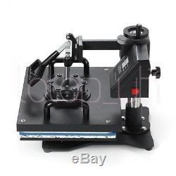 8in1 T-shirt Mug Hat Plate Cap Heat Press Machine Sublimation Printing Transfer