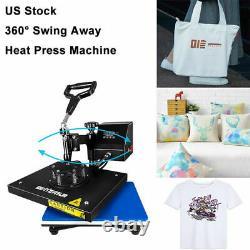 9'X12'Swing Away Digital Heat Press Machine Transfer Printing DIY T-Shirt Mat US