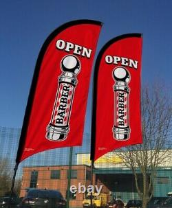Advertising flag, forecourt advertising, feather flag, MOT sign, garage sign