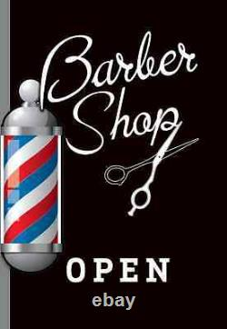 BARBER SHOP PAVEMENT SIGN, ADVERTISING SHOP DISPLAY Hairdressing, A Board