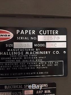 Challenge Paper Cutter Model 305MC