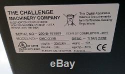 Challenge Titan 230 23 2016 Like New Paper Cutter Program Warranty Champion