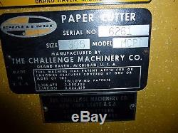 Challenge paper cutter 30.5 MCPB