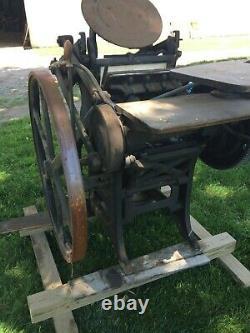 Chandler and Price Letterpress machine