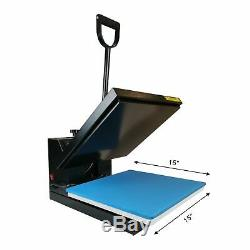Clamshell Heat Press Sublimation Transfer Printer Machine 15x15in for T-shirt US