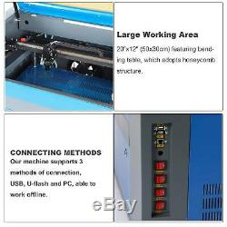 Co2 Laser Engraver 50W 20 x 12 RDworksV8 WithLightburn License Key & Rotary Axis