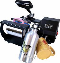 Combo 4in1 Mug Heat Press Transfer Sublimation Machine Latte 11-17Oz Coffee Cup