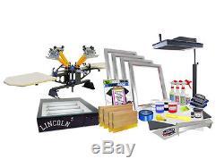 DIY 4 Color Shocker© Start-Up Screen Printing Kit Press Flash Exposure 42-1