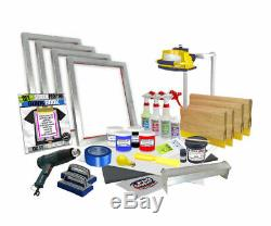 DIY 4 Color Supply Kit Screen Printing Starter Beginner Kit codepink
