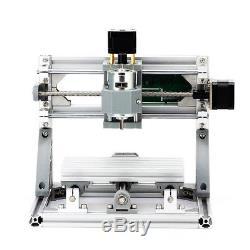 DIY CNC 1610 Mini Mill Engraving Machine CNC Router Kit USB+500mw Laser PCB Wood