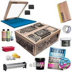 DIY PRINT SHOP Classic Table Top Screen Printing Kit